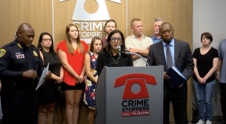 Mayor Sylvester Turner joins victim's family and Crime Stoppers Houston to announce reward increase to find murder suspects