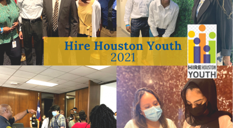 """Interns Report for the First Day at Work as Part of Mayor Turner's Signature """"Hire Houston Youth"""" Initiative"""