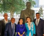 Mayor Turner Joins Family of 36th President & Community Leaders to Dedicate Monuments to Lyndon B Johnson and Apollo I Memorial
