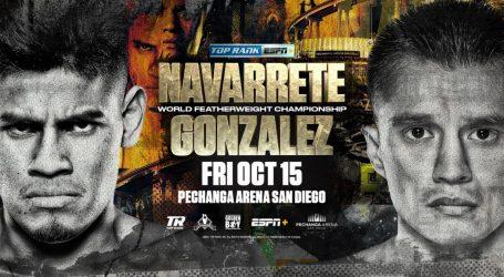 JOET GONZALEZ TO CHALLENGE EMANUEL NAVARRETE FOR THE WBO FEATHERWEIGHT WORLD TITLE